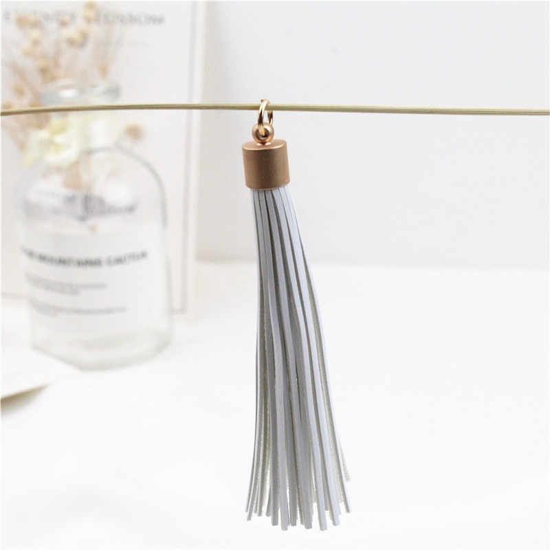Metal copper cap leather long tassel handmade material