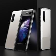 LAPOPNUT Dünne Fit Galaxy Falten Telefon Fall für Samsung Galaxy Falten 2019 Abdeckung Entwickelt Matte Schwarz Stoßfest Hybrid Harte Coque