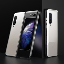 Тонкий чехол LAPOPNUT для Samsung Galaxy Fold, матовый черный ударопрочный гибридный жесткий чехол, 2019