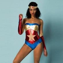 JSY Sexy Costume Superhero-Theme Deluxe Woman Fnacy Bodysuit Supergirl Uniform Strapless Latex