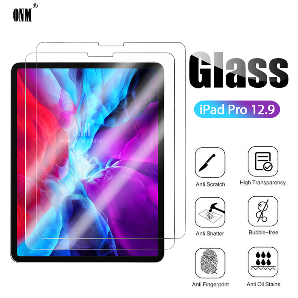 2Pcs Glass For IPad Pro 12.9 2020 Screen Protector 9H Tempered Glass For APPLE IPad Pro 12.9 Tablet Accessories