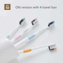 Oryginalna metoda Doctor B Bass szczotka do zębów 4 kolory/zestaw zawiera pudełko na podróż DR.BEI dokładne czyszczenie szczoteczki do zębów
