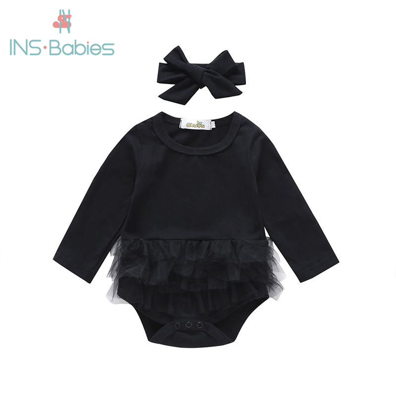 New Autumn BABY Bodysuits For Newborn Baby Girls Love Black Babies Clothes Long Sleeve Christmas Clothing New Year Party Outfits