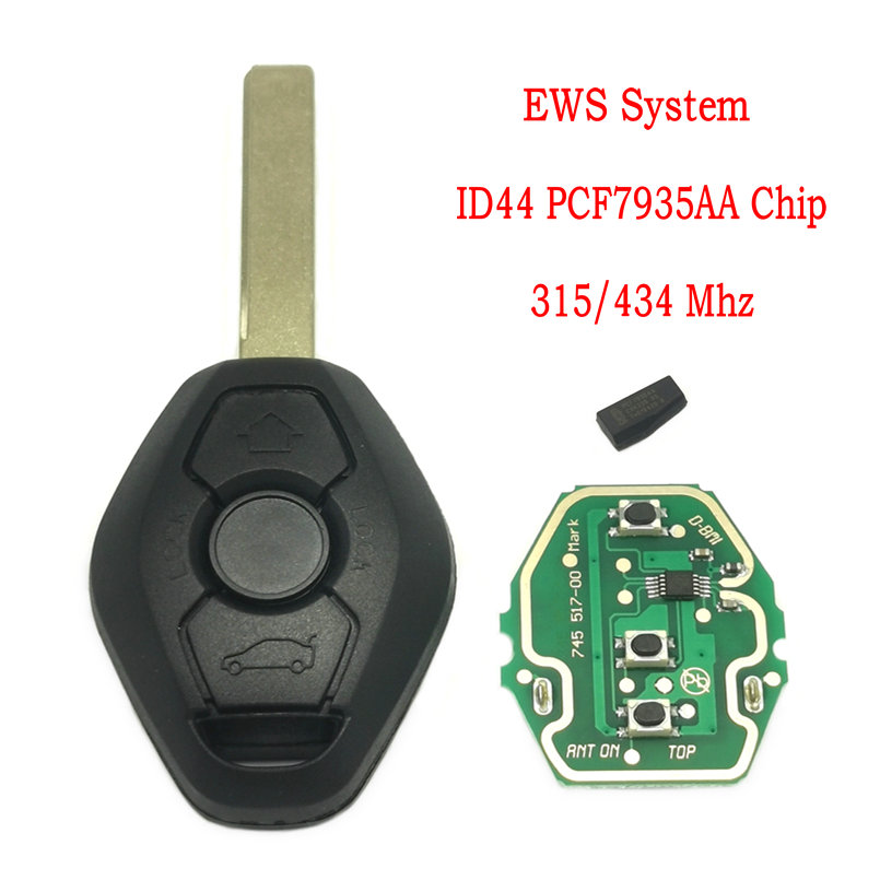 Datong World Car Remote Control Key For BMW E38 E39 E46 1 3 5 7 Series 433 Mhz ID44 Chip PCF7935 Auto Smart Key With Logo