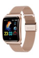 F9S ساعة ذكية IP68 مقاوم للماء سبيكة حزام حزام معدل ضربات القلب ضغط الدم رصد 50 يوما الاستعداد ل Smartwatch النساء الرجال
