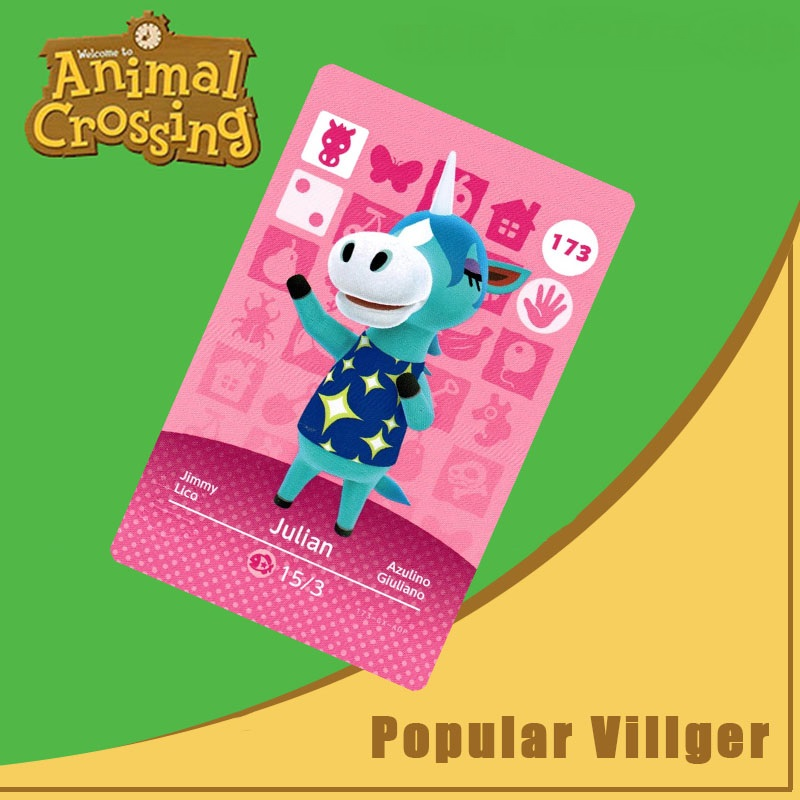 173 Animal Crossing Amiibo Card Julian Amiibo Card Animal Crossing Series 2 Julian Nfc Card Work For Ns Games Dropshipping