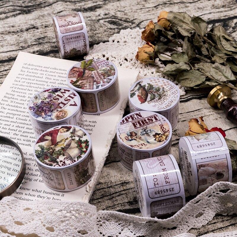 3cm Retro Collage Series Writable Decorative Washi Tape DIY Scrapbooking Masking Craft Tape School Office Supply