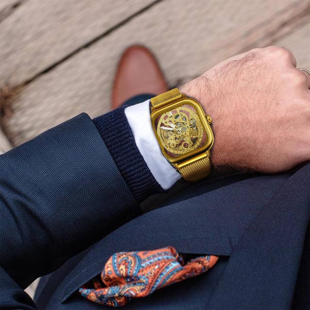H256ed716e74743a2a6aecc8259dab8f6F FORSINING Top Brand Luxury Unisex Watch Men Auto Mechanical Hollow Dial Magnet Strap Fashion Royal Wristwatch HIP HOP Male Clock