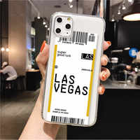 Customize City Name Impact Baggage Tag Travel Passport Clear Phone Case Cover for iPhone 11 Pro Max X XS XR Max 8Plus 7Plus 7 8