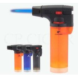 COHIBA 1 Jet Torch płomień zapalniczka do cygar wiatroszczelna kieszonkowa plastikowa zapalniczka na butan zapalniczki wielokrotnego użytku