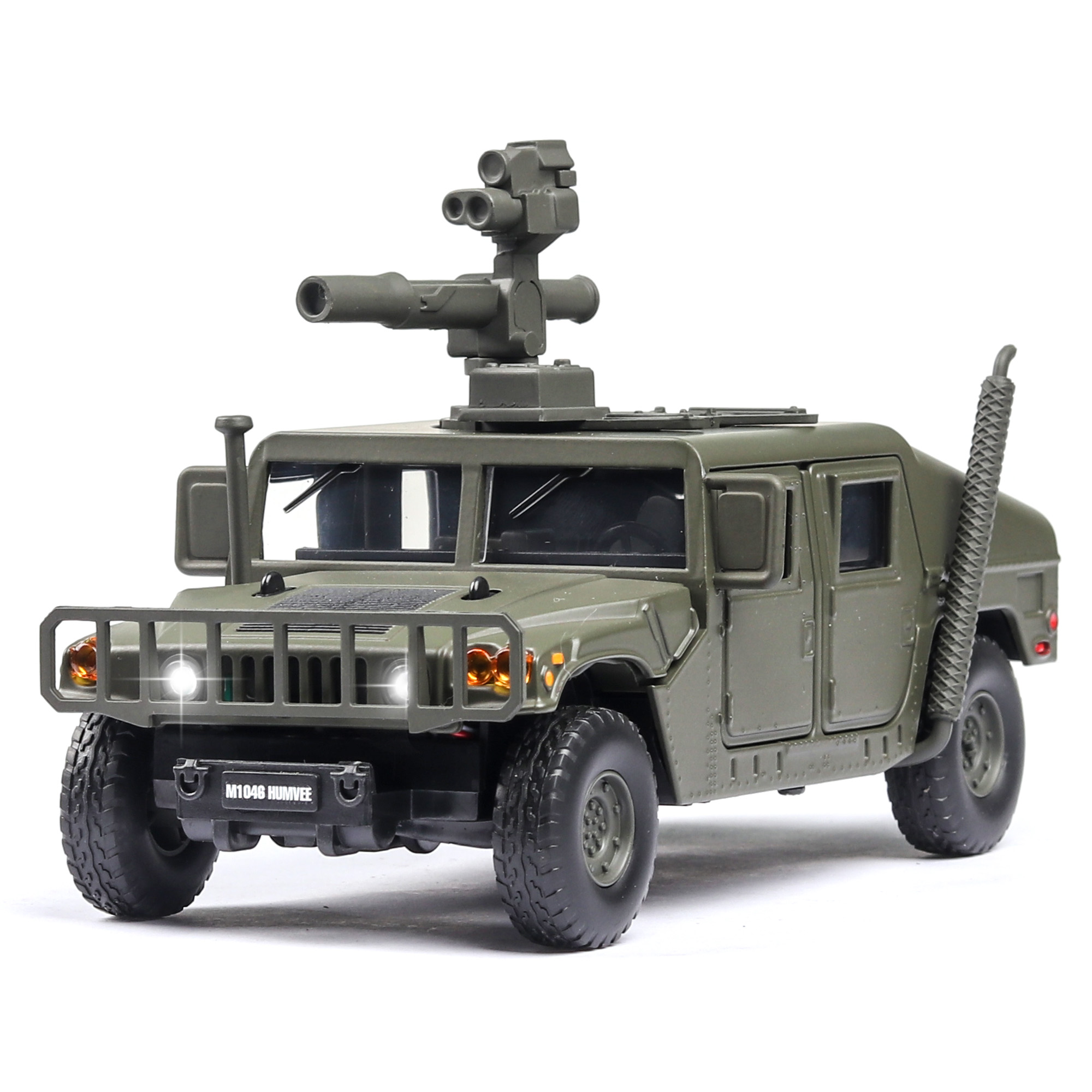 1:32 U.S Hummer M1046 Military Car Model Russia Tiger-M Explosion Proof Armored Sound Light Alloy Car Diecast Toy Vehicles Kids