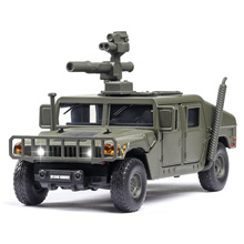 1:32 U.S Hummer M1046 Military Car Model Russia Tiger M Explosion Proof Armored Sound Light Alloy Car Diecast Toy Vehicles Kids