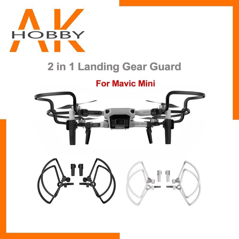 For DJI Mavic Mini Accessories Landing Gear 2 IN 1 Propellers Protector Guard Extend Legs For Mavic Mini Camera Drone