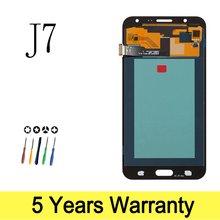 Pantalla LCD AMOLED para móvil, montaje de digitalizador con pantalla táctil, para Samsung Galaxy J7 100%, J700, SM, J700, J700F, J700M, J700H, 2015