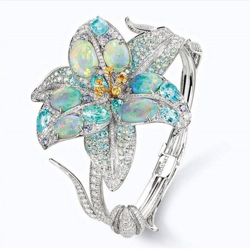 Rings Women Jewelry Flower...