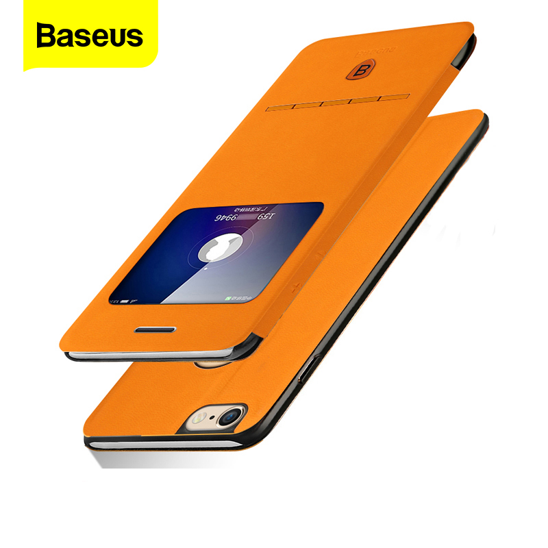 <font><b>Baseus</b></font> Leather Phone Case For <font><b>iPhone</b></font> <font><b>6</b></font> <font><b>6s</b></font> s Plus Fashion Young Colorful Smart Flip Cover For <font><b>iPhone</b></font> 6plus 6splus Coque Fundas image