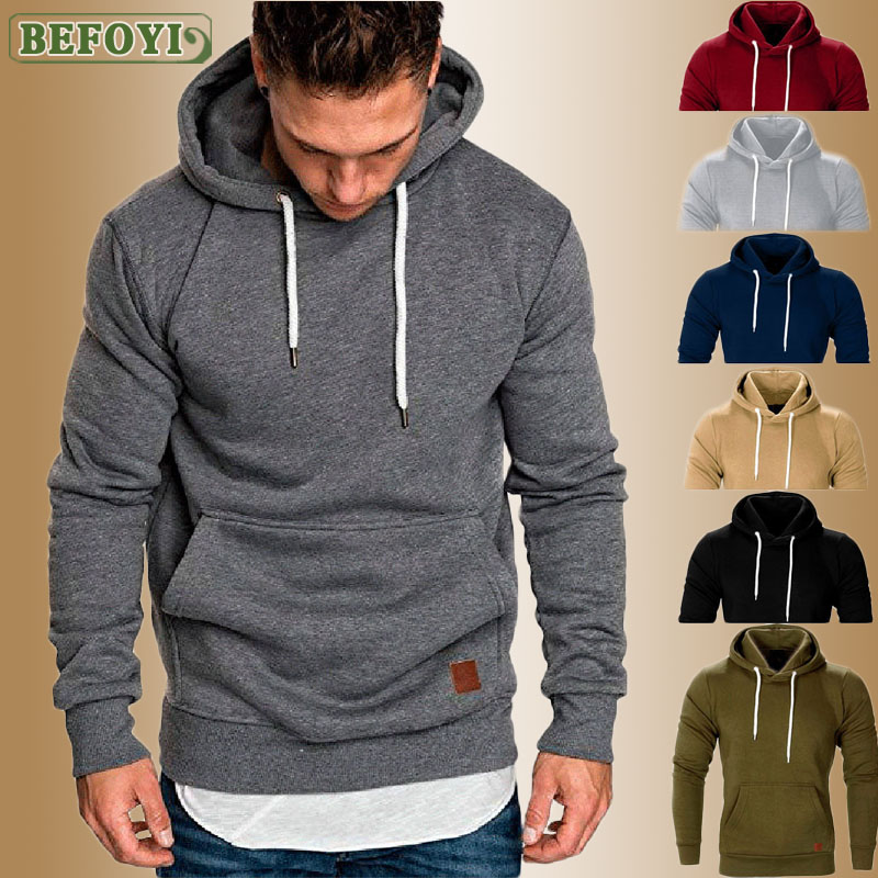 Hot M-5XL Mens Fashion Brand Hoodies Long Sleeve Sweatshirt Autumn Spring Casual Coat Male Solid Tracksuits Pocket Top 2020 New