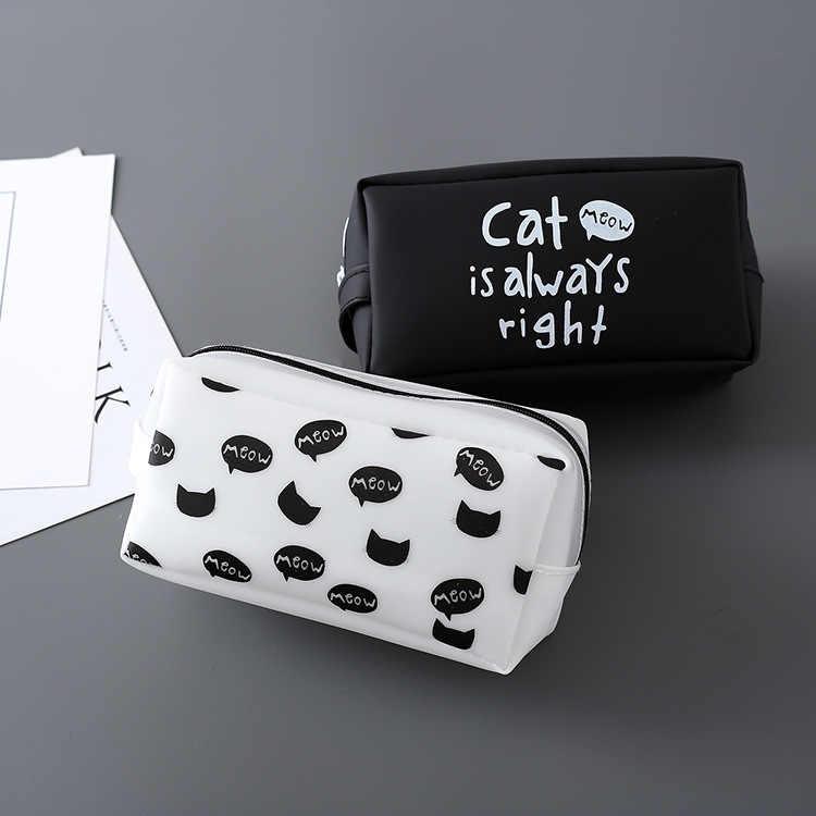 Korean Kreative Schreibwaren Katze Königreich Gelee Bleistift Tasche Student Große Kapazität Bleistift Taschen Multi Funktion Beutel Schule Liefert
