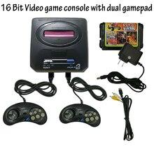 цена на 2019 New Retro Mini TV Video Game Console For Sega MegaDrive 16 Bit 600 Different Built-in Classic Games Two Gamepads AV-out