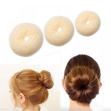 Приспособление для пучка волос пластина для волос пончик ролик сделай сам волшебная эластичная пена губка инструменты для укладки волос ак...