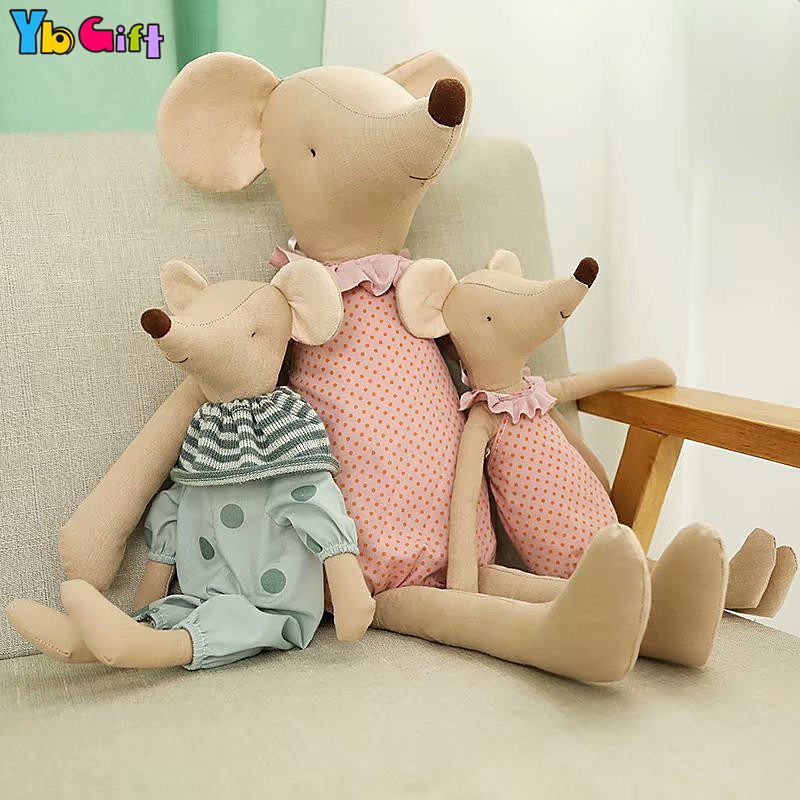 Cute Mailleg Mice Doll Plush Mouse CalmToys Infant Baby Appease Toy Kawaii Stuffed Kids Gifts Cloth Doll Girls Photography Doll
