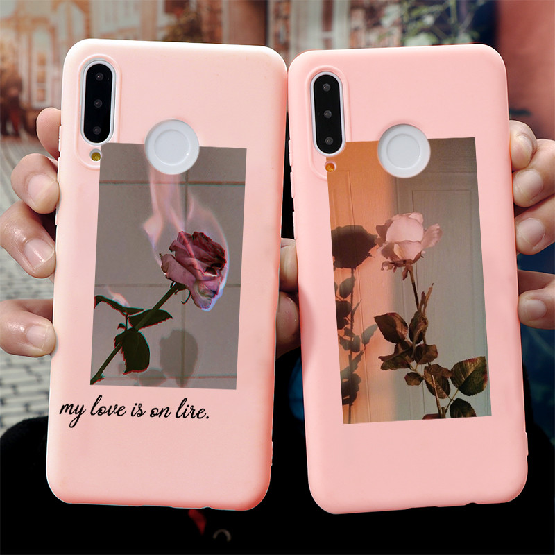 Art Floral Rose Text Cover For Huawei P40 P30 P20 P10 Honor 8X 9X Mate 20 10 Lite Pro Y6 Y7 Y9 P Smart Z 2019 Silicon Phone Case