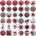 5 шт./лот оптовая продажа кнопки ювелирные изделия шармы винтажные металлические Красные кристаллы горный хрусталь цветок 18 мм кнопки для б...