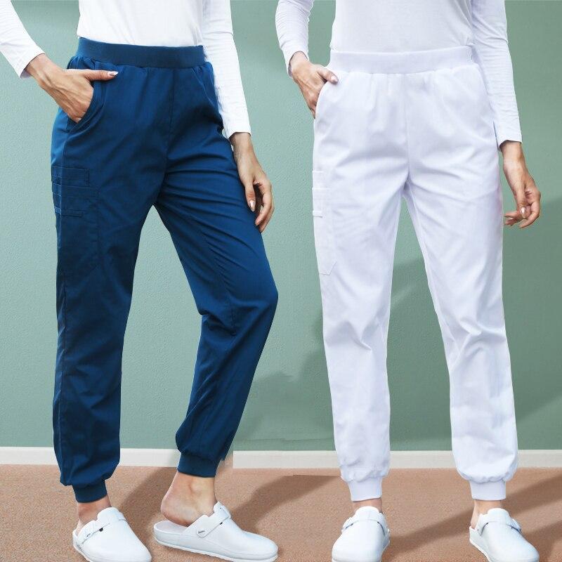 Sporty Jogger Pant Medical Scrub Pants Natural Rise Leg Women Men Nurse Work Trousers Hospital Dentist Jogger Sport Pants