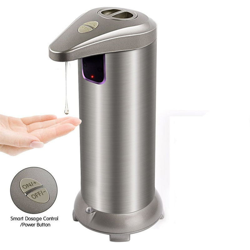 Stainless Steel Automatic Soap Dispenser Hand Washing Sanitizer Bottle Bathroom Shower Gel Hotel Sanitary Table Dispensador