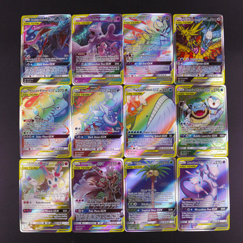 цена на 2020New 100pcs Pokemon Card TAG TEAM GX Shining cards Collection Trading Card Game Kids Toys High quality card