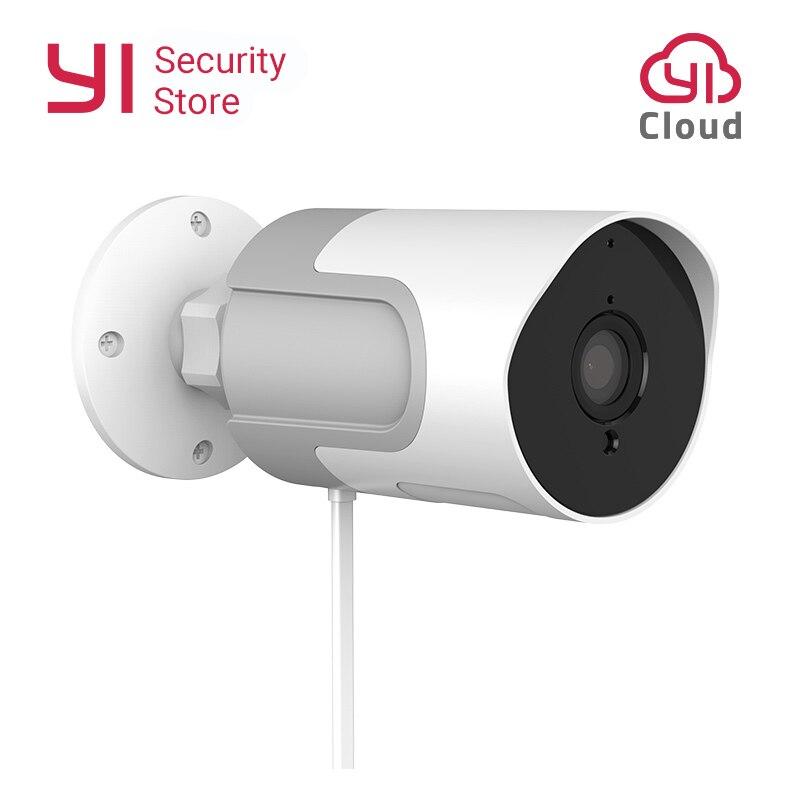 Yi lot câmera ao ar livre 1080 p à prova de intempéries sem fio ip cam visão noturna câmera de vigilância de segurança yi nuvem disponível ue