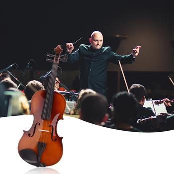 Nowy 4 4 akustyczne naturalne skrzypce akustyczne z futerał do przechowywania łuk kalafonii prezent skrzypce Instrument na skrzypce muzyczne zestaw prezenty dla zakochanych tanie i dobre opinie CN (pochodzenie) LIPA Other zrobione z hebanu