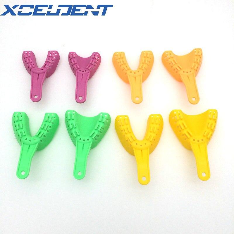 Plateau dimpression dentaire, plastique ABS, orthodontie, Kit assorti, porte-dents Durable, outil de dentiste 8 pièces