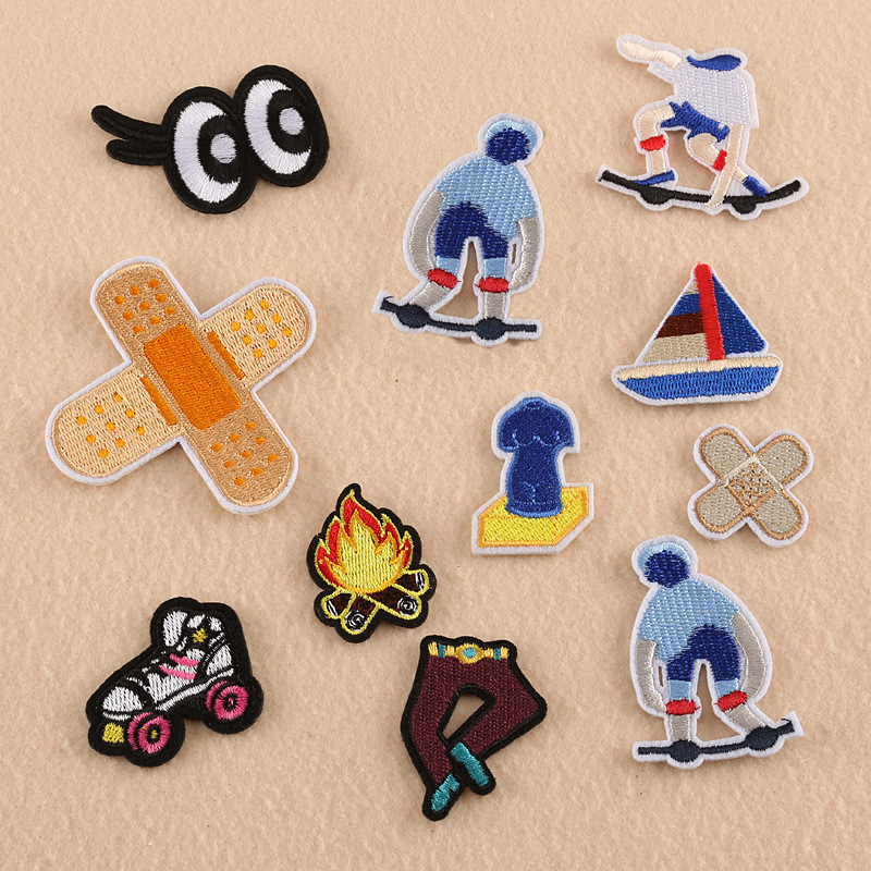 1 Piece Bandage Embroidery Repair Patches Bag Jacket Jeans Cartoon Iron On Patches For Clothes Small Glue Sticker