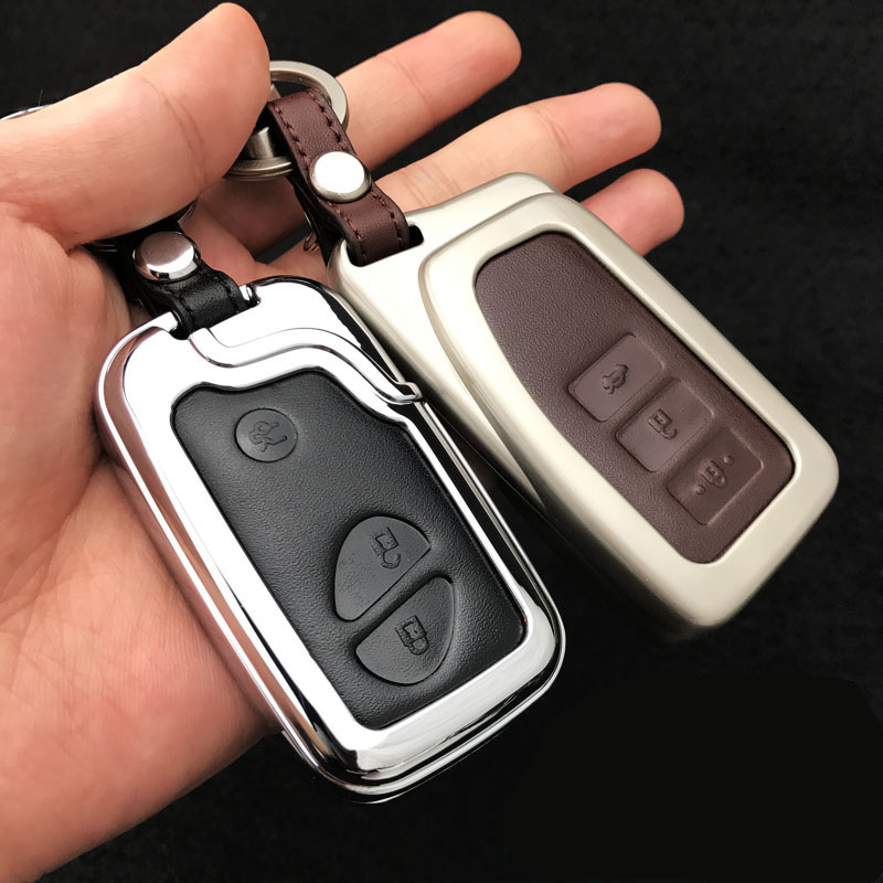 Zinc alloy+Leather Car Styling Key Cover Case For Lexus RX IS ES NX GS GX LX 300 330 350 200 250 270 470 460 570 400 450H CT200H image