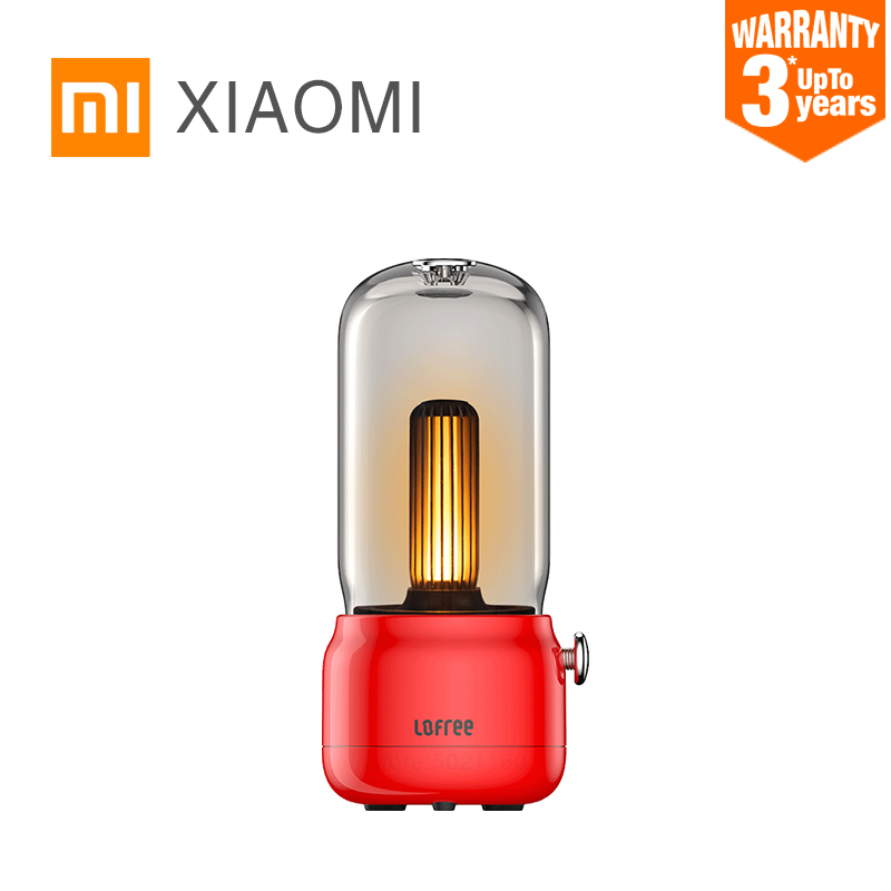XIAOMI MIJIA Night Light LOFREE Portable Candlelight Ambient Light LED table lamp Indoor outdoor Lighting Fixtures USB Charging|Night Lights| - AliExpress