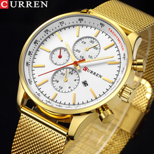 цена на CURREN Top Watches Men Luxury Brand Casual Sport Stainless Steel Quartz Watches Japan Unisex Wrist Watch For Man Military Watch