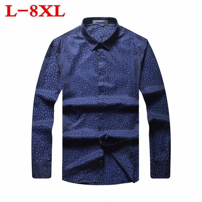 8xl 7xl 6xl 5xl plus size nova camisa masculina casual masculina camisa masculina impressa praia camisas mangas compridas roupas de marca