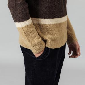 Image 5 - SIMWOOD 2020 Autumn Winter New Sweater Mix Wool Jacquard Contrast Color Striped Knitted Pullovers Plus Size 190411
