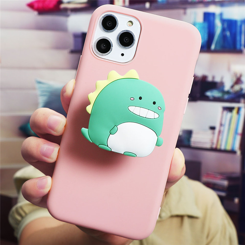 Cute Cartoon Print Design Made Of Soft TPU Material Standing Case For iPhone Mobiles 7