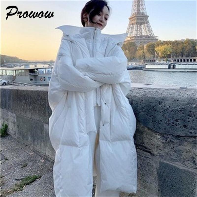 Oversized Long Woman Down Jacket Thicken Warm Duck Down Parka Coat Woman Casual Jacket Female Loose Coat Woman Jacket Coat