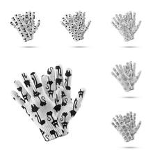 Милые митенки с мультяшным рисунком перчатки для сенсорного