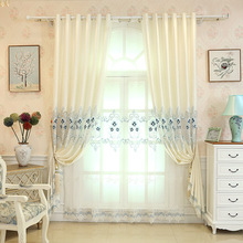 European Style Royal creamy-white Blackout Luxury curtains for Living Room window curtain Bedroom Windows curtain kitchen/Hotel