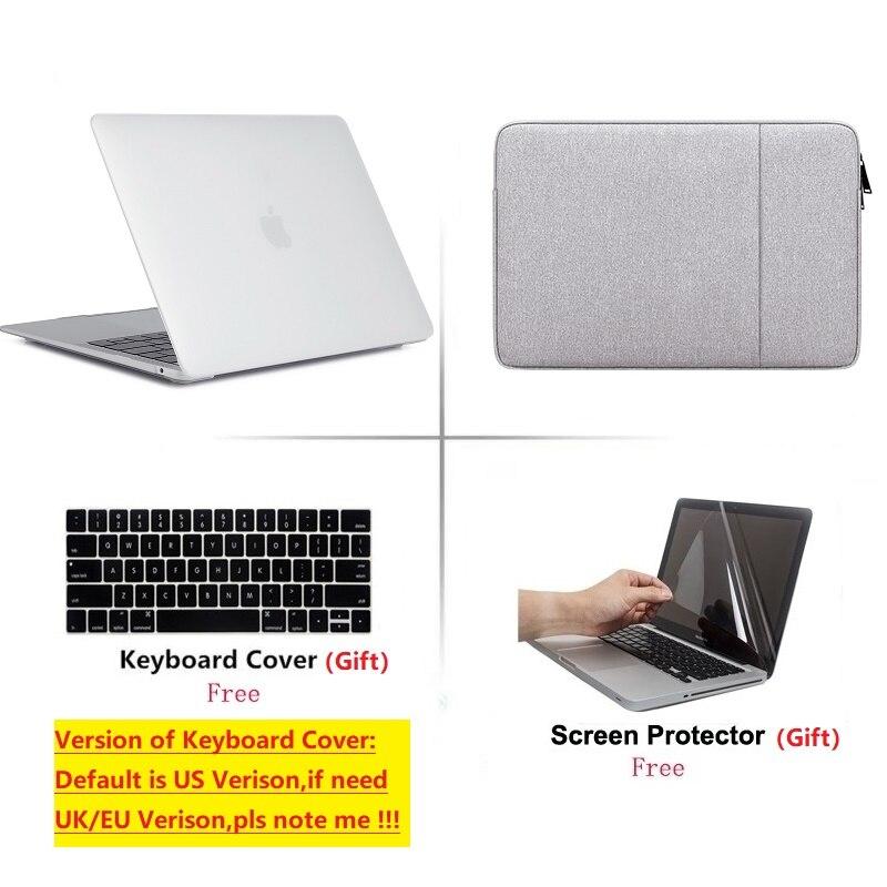 2020 nouveau ordinateur portable coque rigide sac clavier couverture protecteur d'écran pour Macbook Pro Retina Touch Bar Air 11 12 13 15 16 lnch