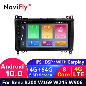 Reproductor de dvd y radio de coche 4G LTE, con Android 10, 4G + 64G, IPS, para Mercedes Benz B200, Clase B, W169, W245, Viano, Vito W639, Sprinter, GPS