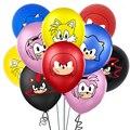 Sonic зубная щётка мультяшную тему латексные шары Baby Shower День рождения украшения для детей игра воздушные Globos игрушки расходные материалы