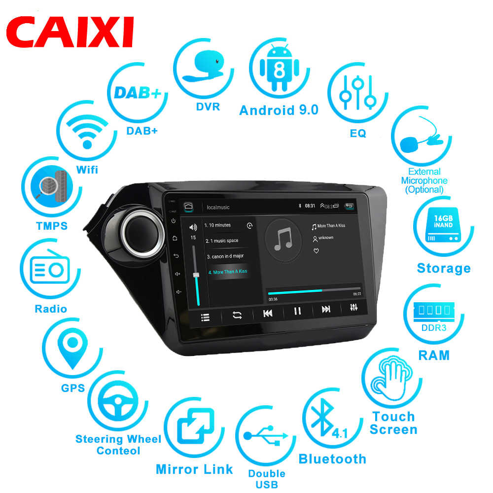 9 Inci Android 9.0 2din Mobil Radio Multimedia Player untuk KIA RIO 3 4 2010 2011 2012 2013 2014 2015 2016 2017 GPS Navigasi Mobil Dvd