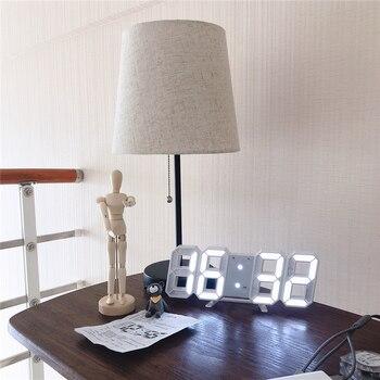 Modern Design 3D Large Wall Clock LED Digital USB Electronic Clocks On The Wall Luminous Alarm Table Clock Desktop Home Decor