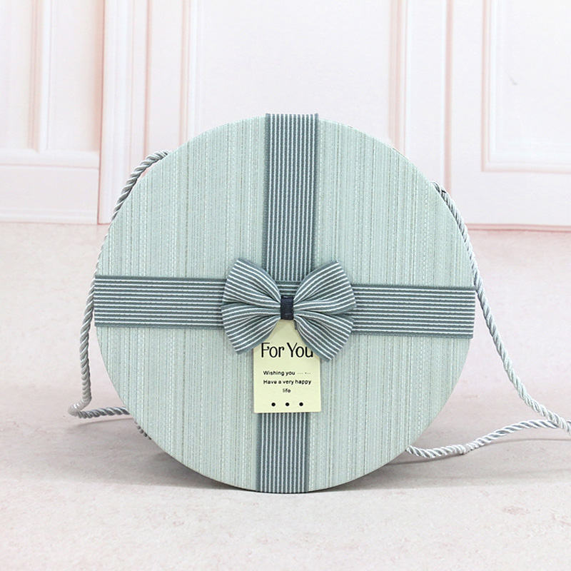 3pcs a Set New Simple and fresh Gift box round wedding gift gift box gift box bouquet gift box 2pcs 11 off in Gift Bags Wrapping Supplies from Home Garden