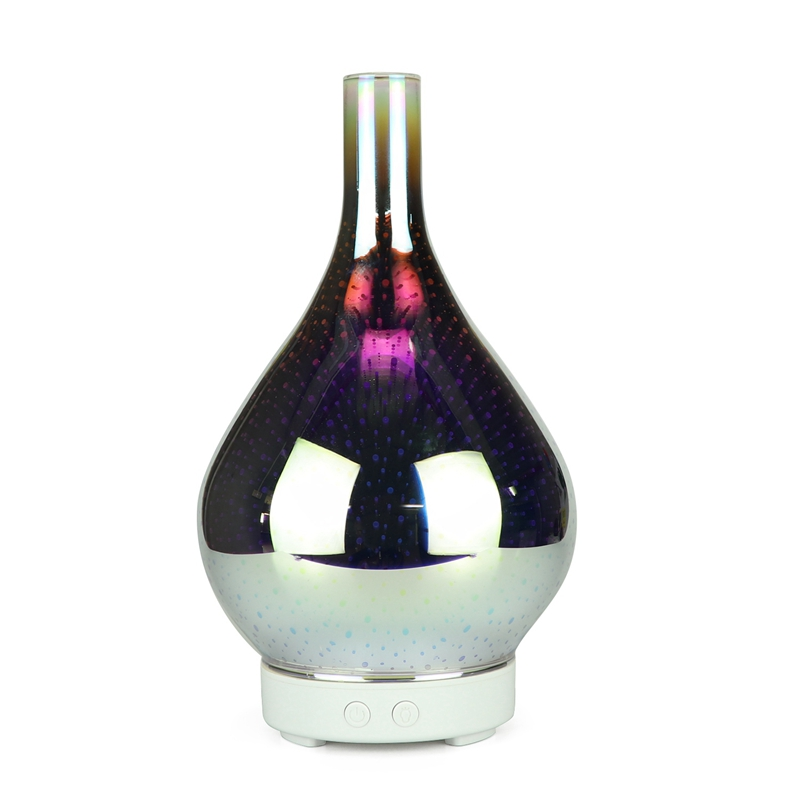 Top Sale 3D Firework Glass Vase Shape Air Humidifier With 7 Color Led Night Light Aroma Essential Oil Diffuser Mist Maker Ultras